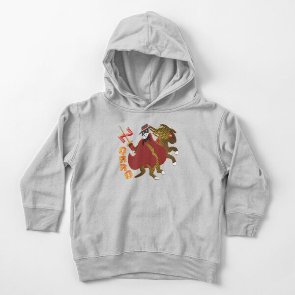 In the name of Zorro - rider on fire sharp sword Toddler Pullover Hoodie