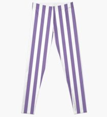 Legging Twilight Violet y White Stripes Pattern