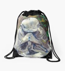 Blessing--Monk Statue Drawstring Bag