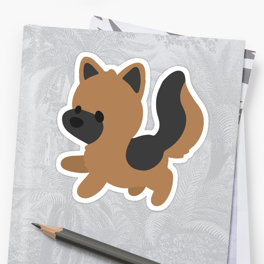 Quot Chibi German Shepherd Quot Stickers By Ncdogggraphics Redbubble