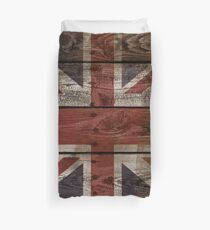 Wood Crate Boards Union Jack  Duvet Cover