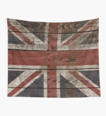 Wood Crate Boards Union Jack  Wall Tapestry