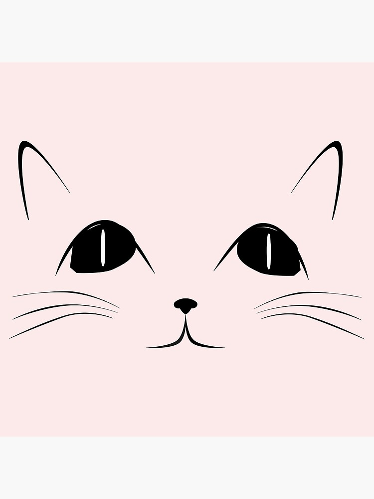 Black Cat Face Cute Animal Cartoon Greeting Card By Sago Design
