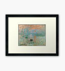 Claude Monet - Impression Sunrise  Framed Print