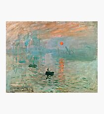Claude Monet - Impression Sunrise  Photographic Print
