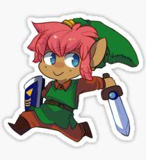 Run, Little Boy in Green! Sticker