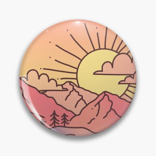 Sunset Mountains Pin