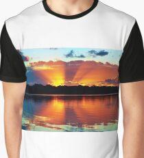 Orange Rays Sunrise Panorama. Original exclusive photo art. Graphic T-Shirt