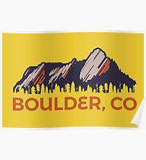 Boulder Flatirons Poster