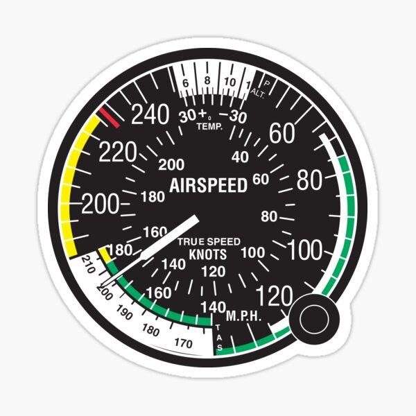 Pilot Airspeed Sticker