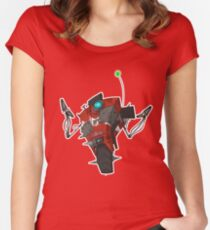 Badass Claptrap Sticker Women's Fitted Scoop T-Shirt
