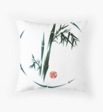 DREAM - Original enso brush painting Throw Pillow