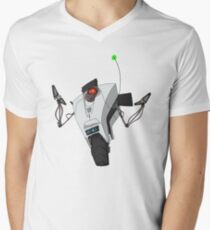 Portal Claptrap Sticker Men's V-Neck T-Shirt