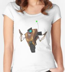 Jakob's Claptrap Sticker Women's Fitted Scoop T-Shirt