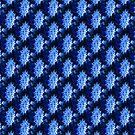 snowflake in blue 4 pattern by Dawna Morton
