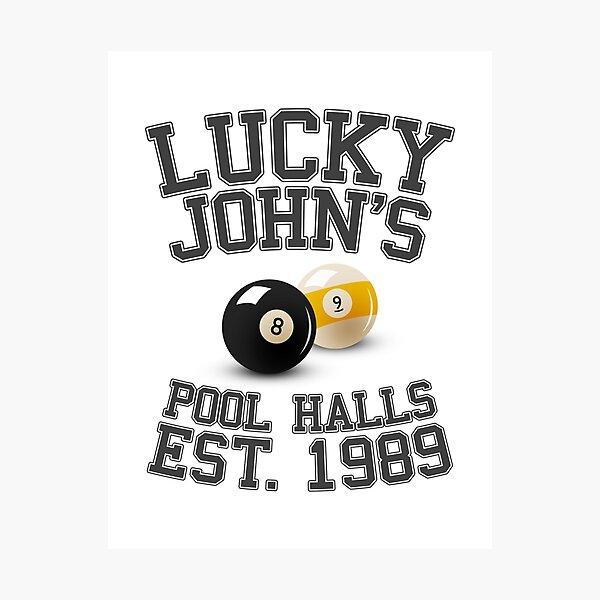 Lucky John's Pool Halls Photographic Print