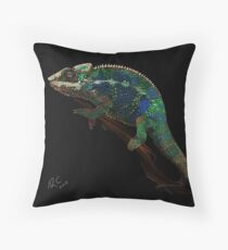 Colorful Chameleon Throw Pillow