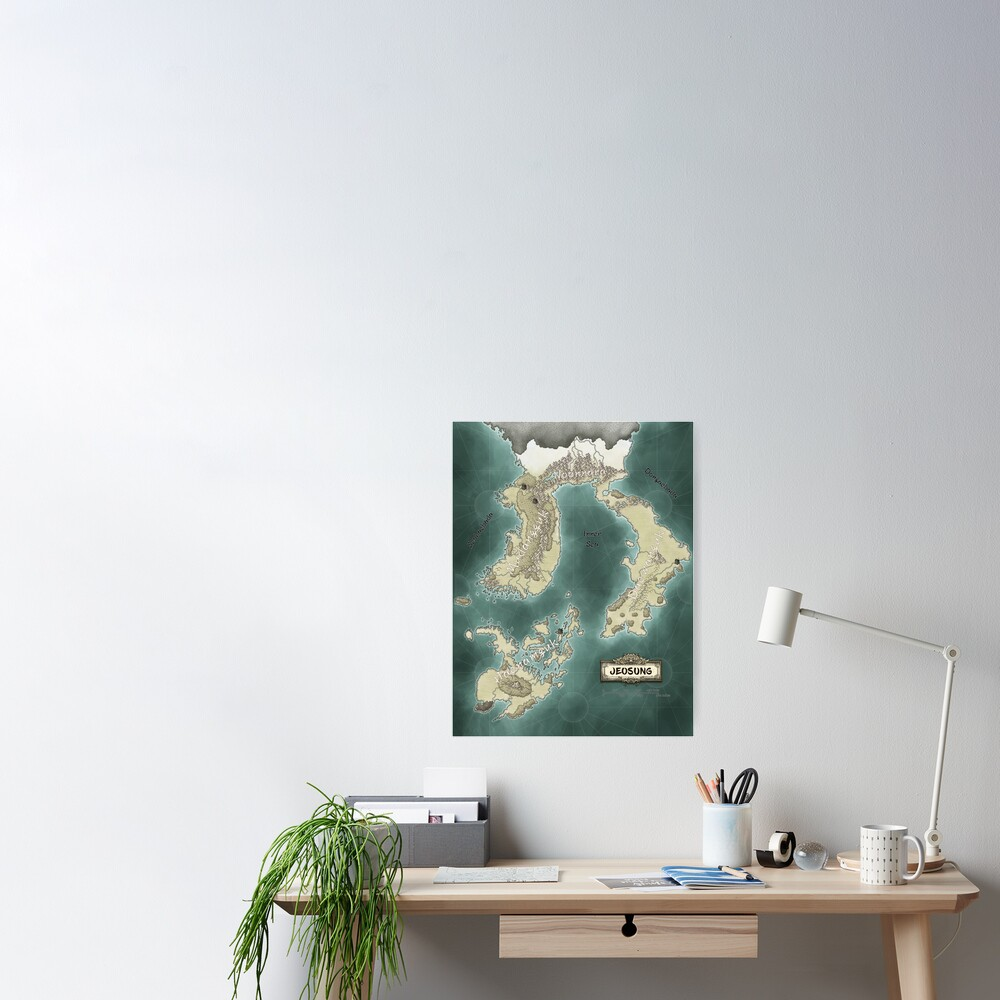 Map of Jeosung Poster