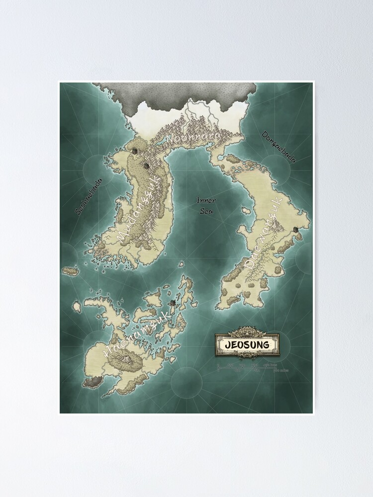 Alternate view of Map of Jeosung Poster