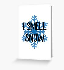 I Smell Snow – Lorelai Gilmore Greeting Card