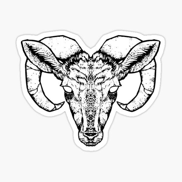 Goat Sticker by Industry Seven Sticker
