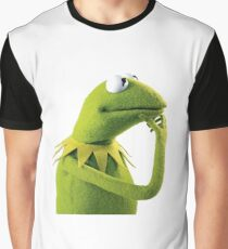 Kermit Contemplating, an aesthetic Graphic T-Shirt