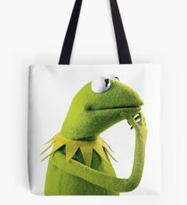 Kermit Contemplating, an aesthetic Tote Bag