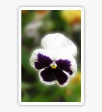 Bright and Cheerful - Pansy Portrait Sticker
