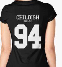 Childish Jersey (custom) Women's Fitted Scoop T-Shirt