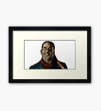 Negan Fanart Framed Print