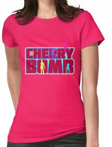 Cherry Bomb (Text) Womens Fitted T-Shirt
