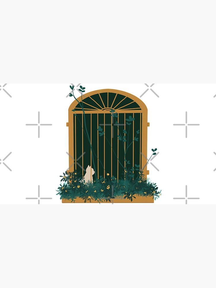 Cute Cat on a Window Illustration by acozymess