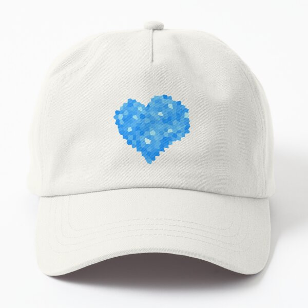 Winter Blue Crystallized Abstract Heart Dad Hat