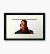 Negan Fanart- Orange Ver. Framed Print