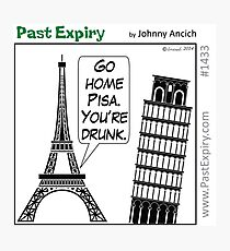 Cartoon : Leaning Tower of Pisa Italy Photographic Print