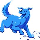 Happy Blue Puppy Dog by DragonsByKris