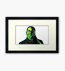 Negan Fanart- Green Ver. Framed Print