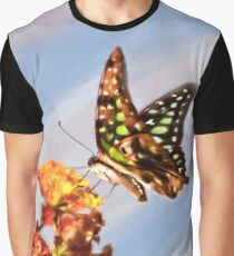 Tail Jay on Scarlet Milkweed Graphic T-Shirt