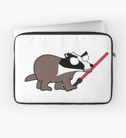 herbert, the angry zombie badger on the dark side Laptop Sleeve