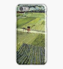 Vincent Van Gogh - Landscape With Carriage And Train 1890 iPhone Case/Skin