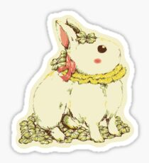 Clover Ribbon Rabbit Sticker