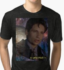 Spaced Out Mulder Tri-blend T-Shirt