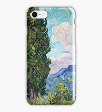 Vincent Van Gogh - Cypresses 1989  iPhone Case/Skin