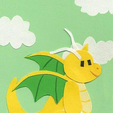 Dragon Cut-out by OwlBurger