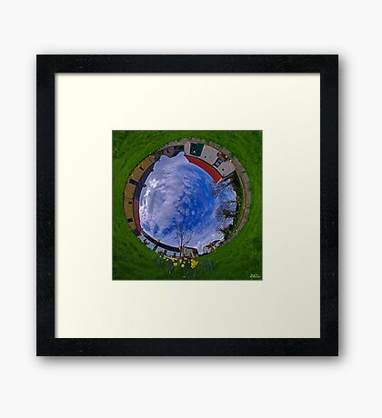 Hanna's Close, County Down (Sunny sky In) Framed Print