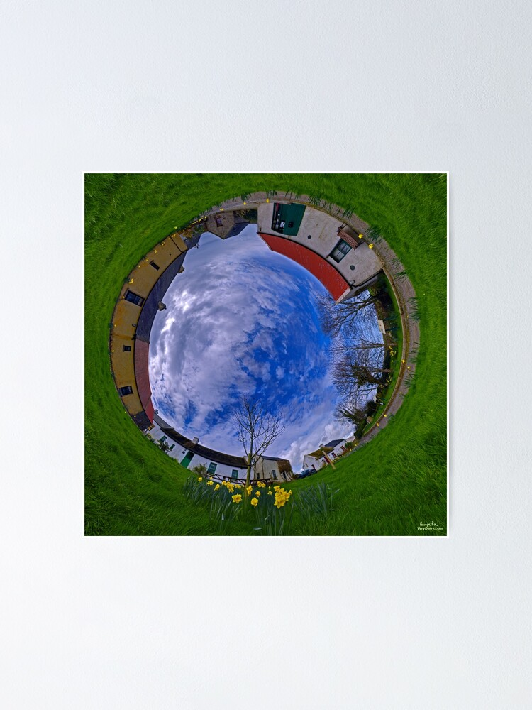 Alternate view of Hanna's Close, County Down (Sunny sky In) Poster