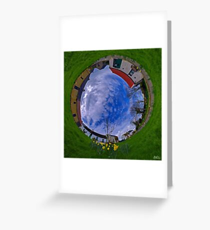 Hanna's Close, County Down (Sunny sky In) Greeting Card