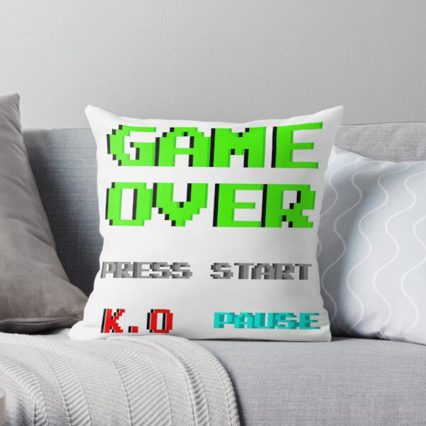 Gamer Stickers Pack Throw Pillow