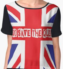 God Save the Queen Women's Chiffon Top