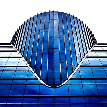 Blue Dallas Building by thedeo